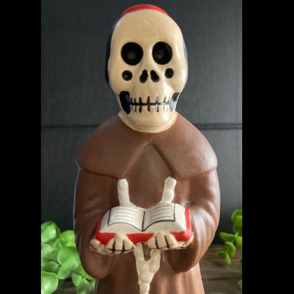 Vintage Peruvian Day of the Dead Priest